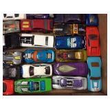 Box of Hotwheel & Matchbox Cars
