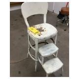 Metal Step Stool Chair