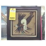 "Bald Eagle Sand Painting Picture 18""x18"""
