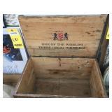 Antique LORD CALVERT Wood Whiskey Box