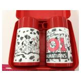 101 Dalmations Plastic Lunch Box W/2 thermos