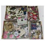 (2) Jewelry Boxes w/costume Jewelry