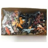Box of Plastic Farm Animals