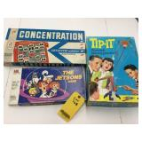 Tip-It,Concetration & Jetsons Games