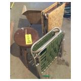 Vintage chair, stool & other
