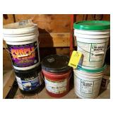 (5) buckets Misc. fluids