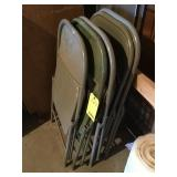 (5) metal folding chairs A.T.G