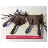 Vintage calf weaning muzzles & barbed wire