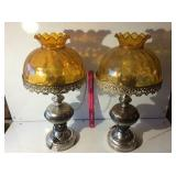 (2) vintage lamps