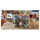 Lot Of 2 Dietz Blue Lanterns