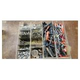 Lot Of 4 Bins Of Miscellaneous Electrical Parts