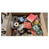 Lot Of Assorted Electrical Items Bulbs, Tape, Etc