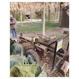 Shop Built Log Splitter Working Order 8hp