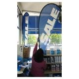 What is the description outdoor sale banner sold
