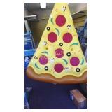 Inflatable Pizza flotation device. 68 in by 58 in
