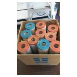 10 filters by the box. 2 and 3/4 inch by 9 and