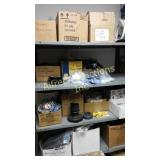 Double shelf lot miscellaneous pool parts filters