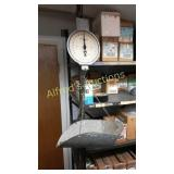 Hanging scale with basket. 60 lb capacity.