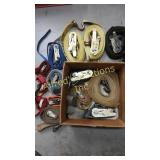 Ratchet strap assortment. Approximately 15 straps