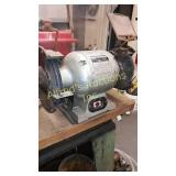 6 in bench grinder with abrasive Stone and wire