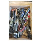 Miscellaneous trailer lot of tools screwdrivers,