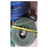 Green Flat Hose With Couplers