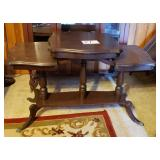 Multible Level Walnut Parlor Table