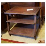 3 Tier Side Table with sloped middle shelf