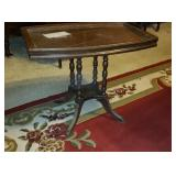 Tea Table With Glass Tray