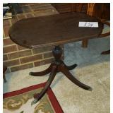 Walnut Table with Brass Claw Feet