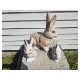 Statues -- 3 Rabbits