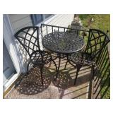 Steel Porch Table with 2 Chairs