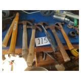 5 Hammers & 2 Extra Wood Handles