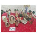 12 Assorted Angels - 2 Are Music Boxes