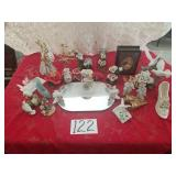 Vanity Top Mirror & Misc Decorative Items