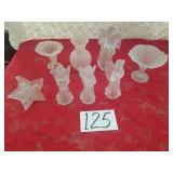 Frosted Glass Vases & Angels