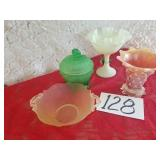 Frosted & Opalescent Fenton & Depression Glass