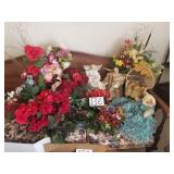 Artificial Flowers & other decor