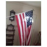 American Flag with Wall Mount Bracket
