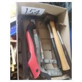 2 Hacksaws, Limb Saw & 3 Claw Hammers