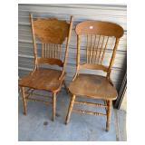 2 nice oak chairs   -25