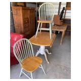Super cute small drop leaf table with 2 chairs