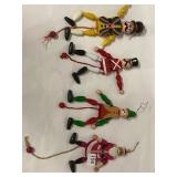 """Christmas """"puppet"""" ornaments"""