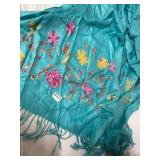 beautiful embroidered scarf- needs washed- too