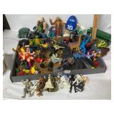misc action figures, star wars, army, indians,