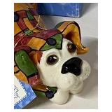 WhimsiClay Ditzy Dog collection figurine