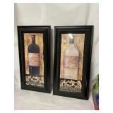 nice framed wine wall decor