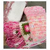 3 pink afghans