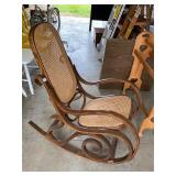 Mid Century bent wood rocker- good condition!  #52