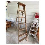 antique step ladder- perfect for crafting  #52